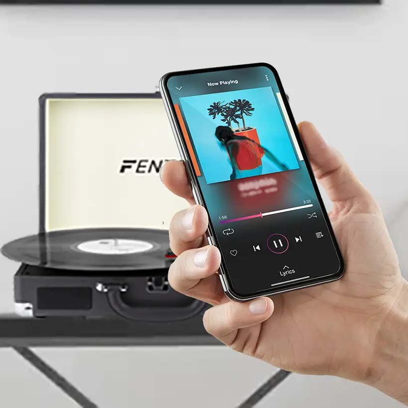 Z gramofonem Fenton podłączysz się przez Bluetooth
