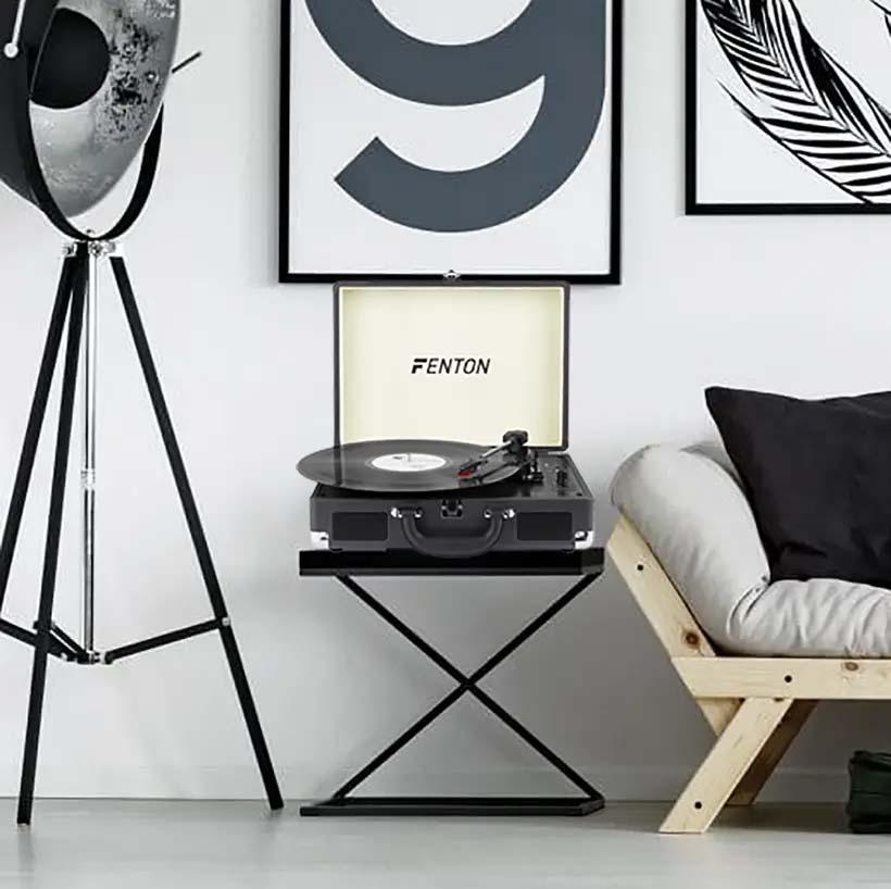 Atrakcyjny design gramofonu