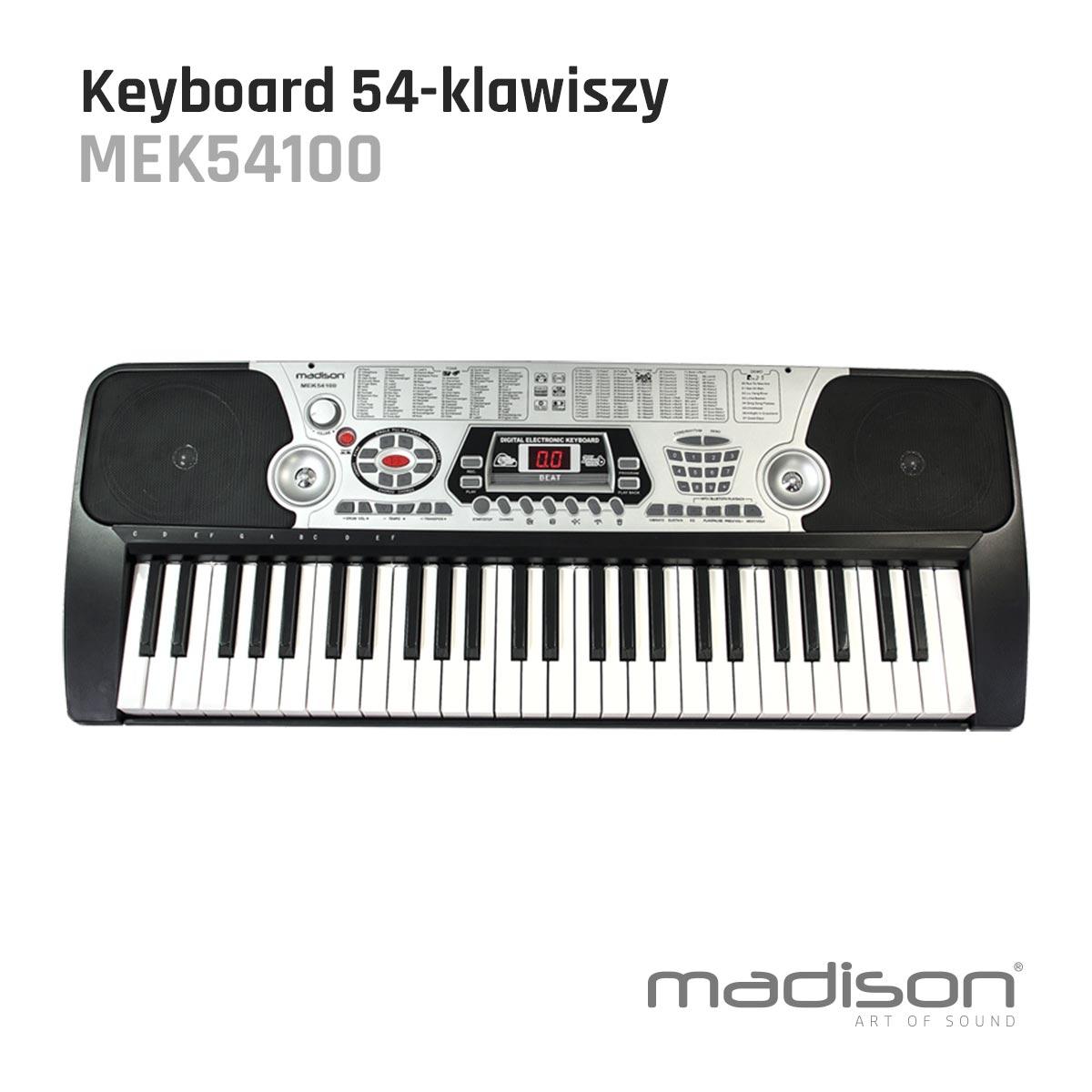 Keyboard z 54 klawiszami